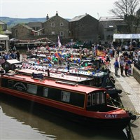 Skipton on Market Day and its Waterways Festival
